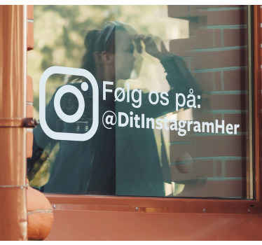 Følg os på instagram business sticker