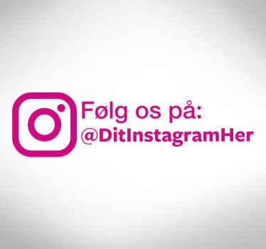 Følg os på instagram vinduet klistermærke
