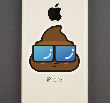 Looking for some unique and original phone stickers with which to decorate that iPhone? Well then this iPhone sticker might just do the trick!
