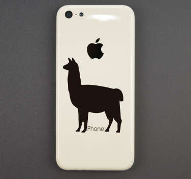 Add a llama to your iPhone with this fantastic silhouette sticker, depicting that very animal and perfect for iPhone! Extremely long-lasting material.