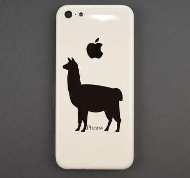 Naklejka na telefon Lama na IPhone