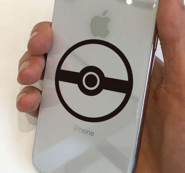 Decorative iPhone sticker with Pokemon video game symbol design. Easy to apply without wrinkle and highly durable. Choose the size required.