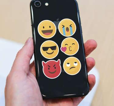 Naklejka na telefon Emotikony na Iphone