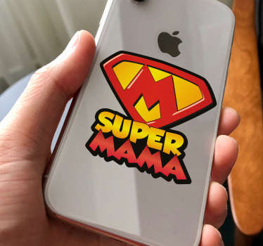 Vinilo iPhone frase supermama