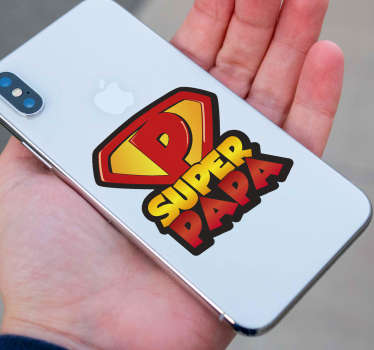 Text Aufkleber Super Papa iPhone
