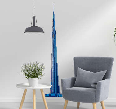 Pay tribute to the magic of the Burj Khalifa with this fantastic location wall sticker showing the magic of the United Arab Emirates!