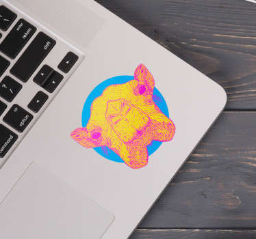 Animal laptop sticker to beautify the working space of a laptop . Choose it in nay desirable size and it is easy to apply.