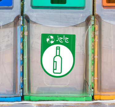 Recycling iconic signage decal for bottles and glasses disposables.Easy to apply and available in any required size. Made from the best quality vinyl.