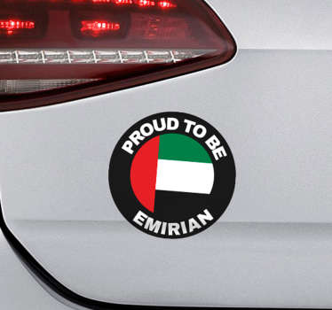 If you are a proud citizen of the UAE then this Emirian themed car sticker might just be ideal for whichever vehicle you drive!