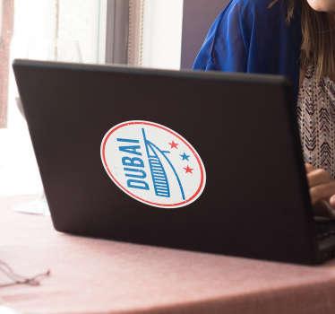 Dubai Retro Laptop Sticker
