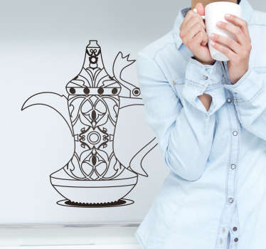 Dallah Coffee Pot Canteen Sticker