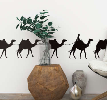 Camel Caravan animal wall sticker