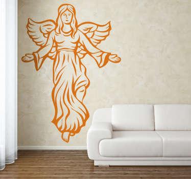 Sticker decorativo angelo natalizio 2