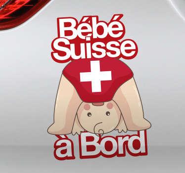 Sticker Tuning Bébé Suisse à Bord