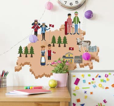 Möchten Sie ein passendes Wandtattoo für das Kinderzimmer? Dann hat Ihre Suche ein Ende! Wir präsentieren Ihnen ein lustigen Wandsticker!