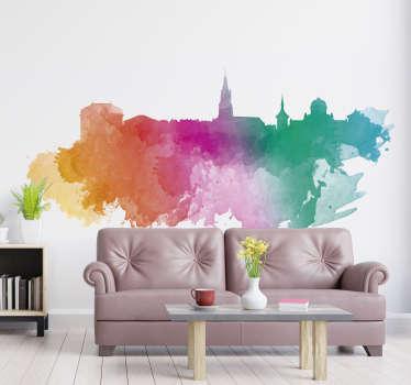 Wandtattoo Wohnzimmer Bern Regenbogen