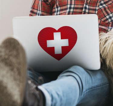 Sie sind ein großer Fan von Ihrem Land oder Sie mögen einfach die Schweiz? Dann haben wir hier den perfekten Herz Aufkleber für Sie.
