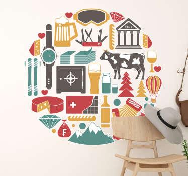Möchten Sie gerne Ihre Wand mit einem Wandtattoo gestalten, mit dem Sie sich verbunden fühlen? Dann präsentieren wir die Schweizer Merkmale als Logos.
