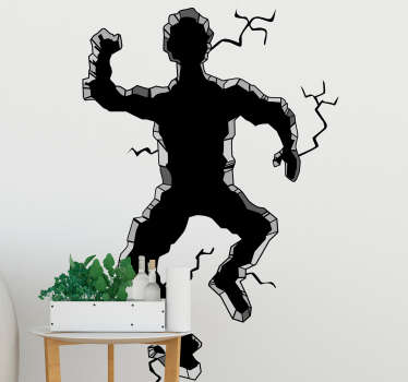 """Where did uncle Robert go?"" Give any room in your house some 3D life with this awesome humorous 3D man wall sticker. Choose from over 50 colours!"
