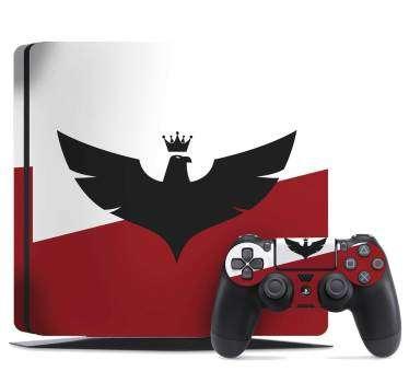Naklejka na konsolę PS4 Orzeł w koronie