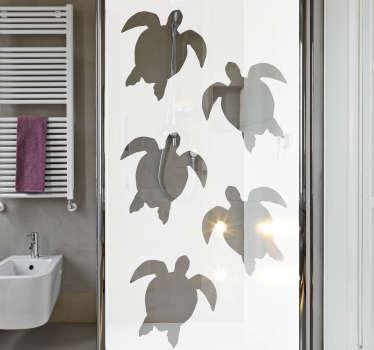 Naklejka do łazienki Żółwie na prysznic