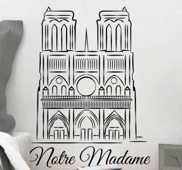 Vinilo pared catedral notre dame