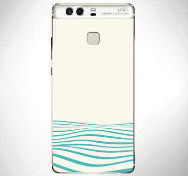 Decorative vinyl sticker with the design of an abstract waves for huawei phone. Buy it in the bet suitable size. Easy to apply.