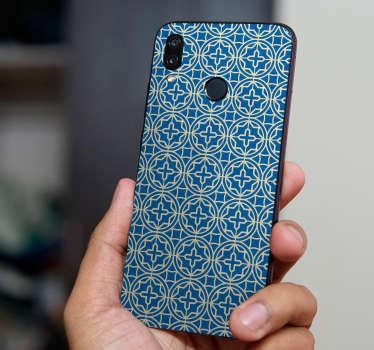 Wandtattoo Ornament blaues Kreuz Huawei