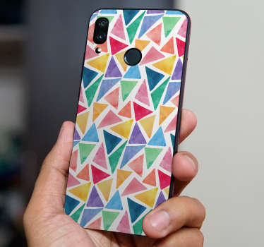 Buy our beautiful watercolor geometric form huawei sticker to decorate a phone . Choose the best suitable size. Easy to apply.