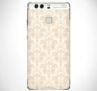 Classic pattern flower hauwei sticker to decorate the surface of the phone in complete style . Choose the best suitable size model for your phone.