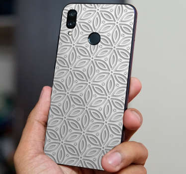 Decorative Japanese huawei vinyl  decal with the design of an original textural abstract pattern to cover the back surface in style.