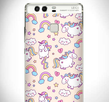The set of several adorable unicorns of this Huawei sticker will bring joy and colours to your phone... or to the phone of your kid !