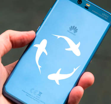 Naklejka na telefon Rekiny na Huawei