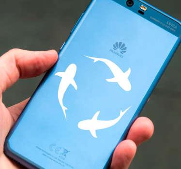 Sharks Huawei Phone Sticker
