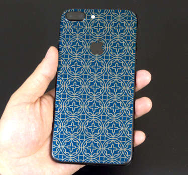 Frise iPhone carreaux bleus