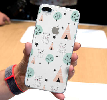 Nordic pattern iPhone sticker to decorate and make it stand out in beauty. Choose the best size model. Easy to apply and self adhesive.