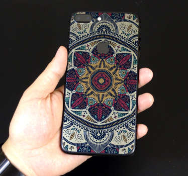 Decorate your iPhone with this fantastic - and absolutely stunning - phone sticker, depicting a Mandala design! Anti-bubble vinyl.