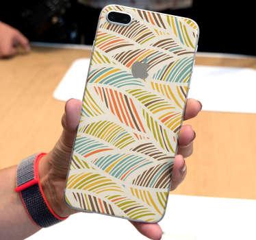 Esta etiqueta de decoração projetada para iphone representa vários padrões de flores, em um efeito de aquarela. Fácil de aplicar no seu telefone.