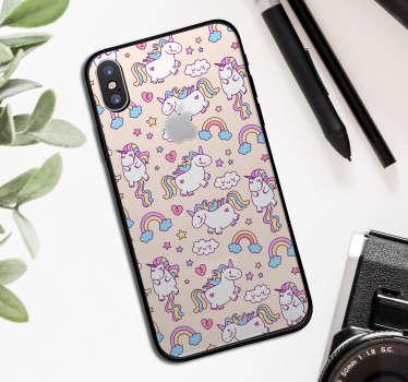 Sada jednorožců zvířat iphone štítku