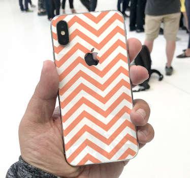 Mønstre zic-zac iphone klistermærke