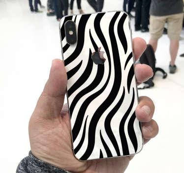 斑马纹理iphone贴纸