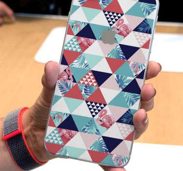 热带和鲜花抽象iphone贴纸