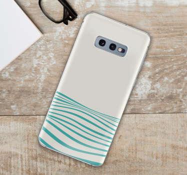 抽象的な波航海電話ステッカー