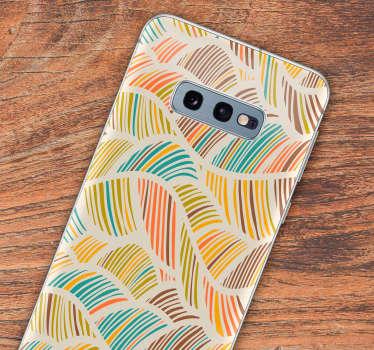 热带树叶花卉手机贴纸