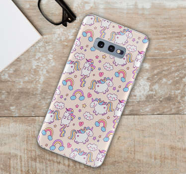 Charming Samsung stickers and for smartphones of other manufacturers. Give your daughter phone decorations with a unicorn. Sticker set of unicorns!
