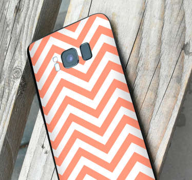 Geometric stickers for Samsung and for smartphones from other manufacturers. Surprise your friends with original zigzag phone decoration.