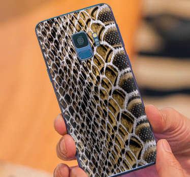 蛇皮三星手机贴纸