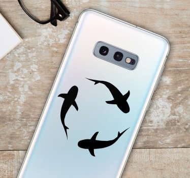 鲨鱼鱼手机贴纸