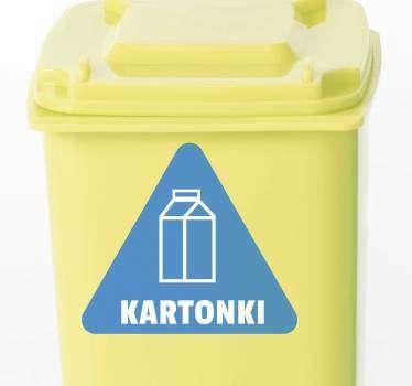 Pahvipaperin kierrätys kotiseinän tarra
