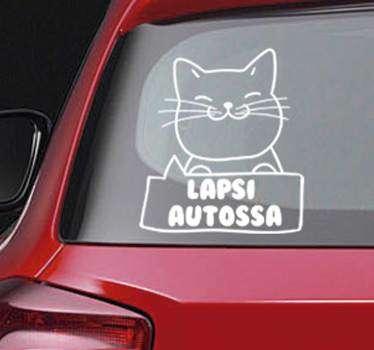 Vauva kissa ajoneuvon tarra